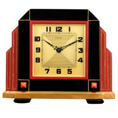 Art Deco Cartier Clock thumbnail 1