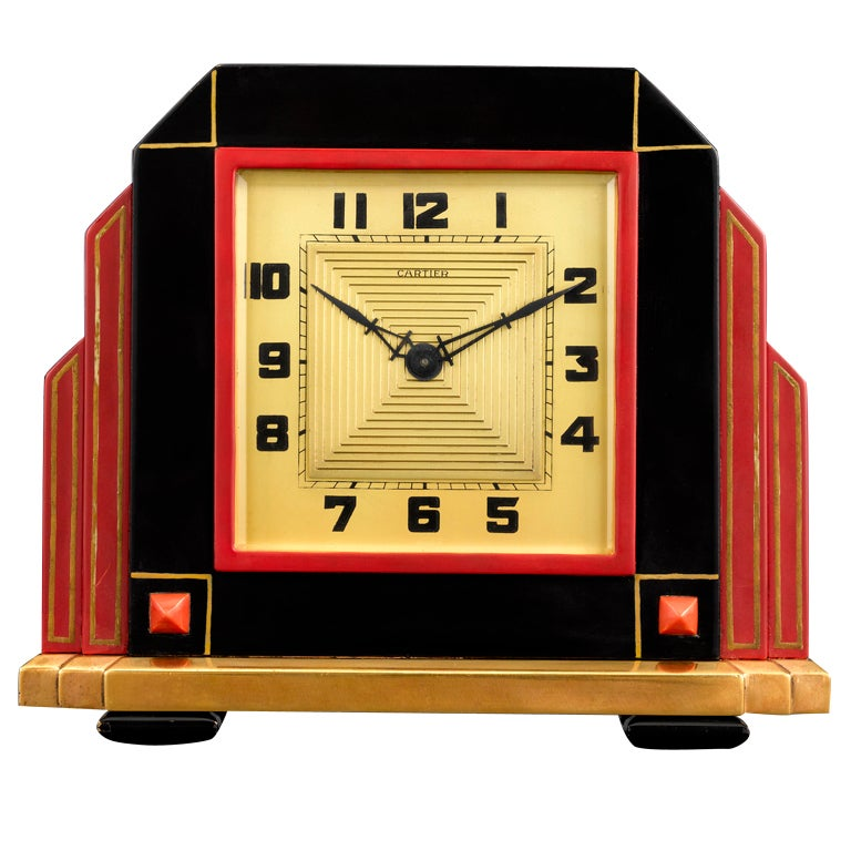 Art Deco Cartier Clock