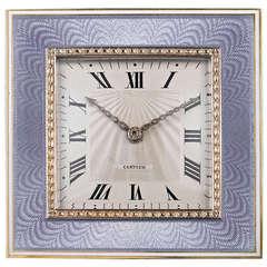 Art Deco Desk Clock by Cartier