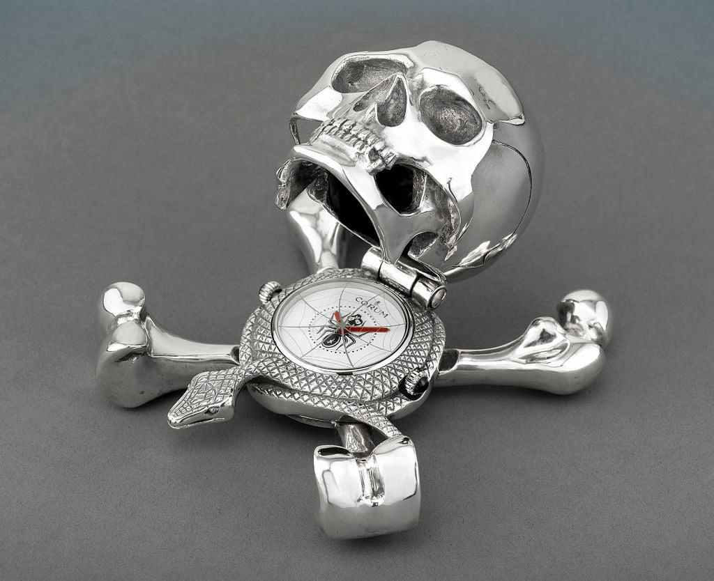 Swiss Corum Skull Clock