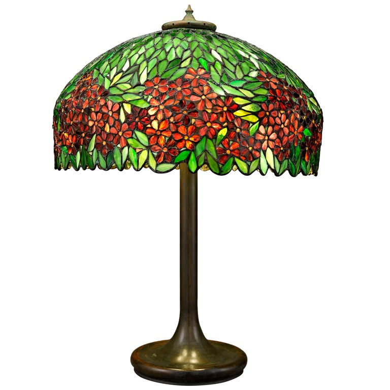 Handel Stained Glass Lamp At 1stdibs