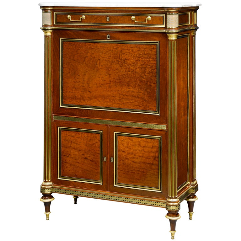 important secretaire a abattant by molitor at 1stdibs. Black Bedroom Furniture Sets. Home Design Ideas