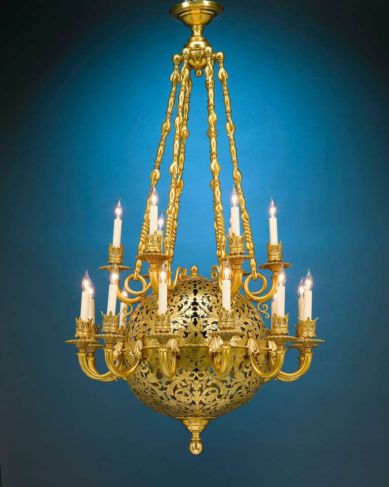Beaux Arts Orb Chandelier at 1stdibs