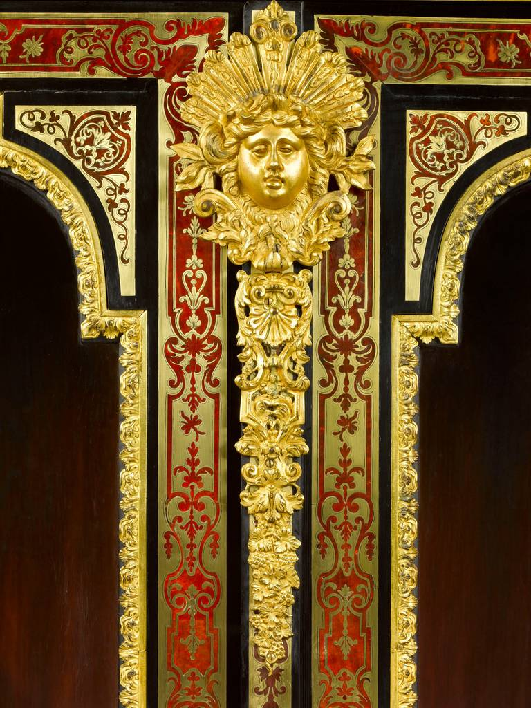 French Stamped Boulle Cabinet byNicolas Sageot For Sale
