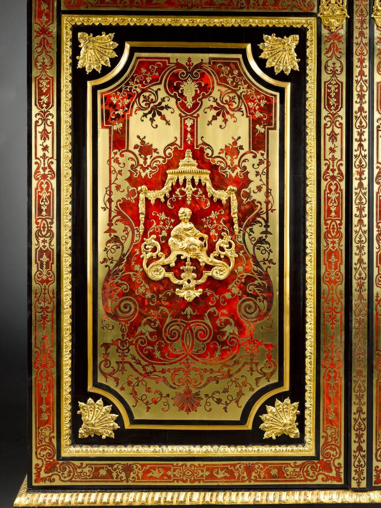 Stamped Boulle Cabinet byNicolas Sageot In Excellent Condition For Sale In New Orleans, LA