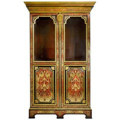 Stamped Boulle Cabinet byNicolas Sageot