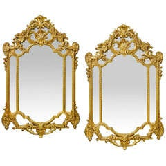 French Third Republic Giltwood Mirrors