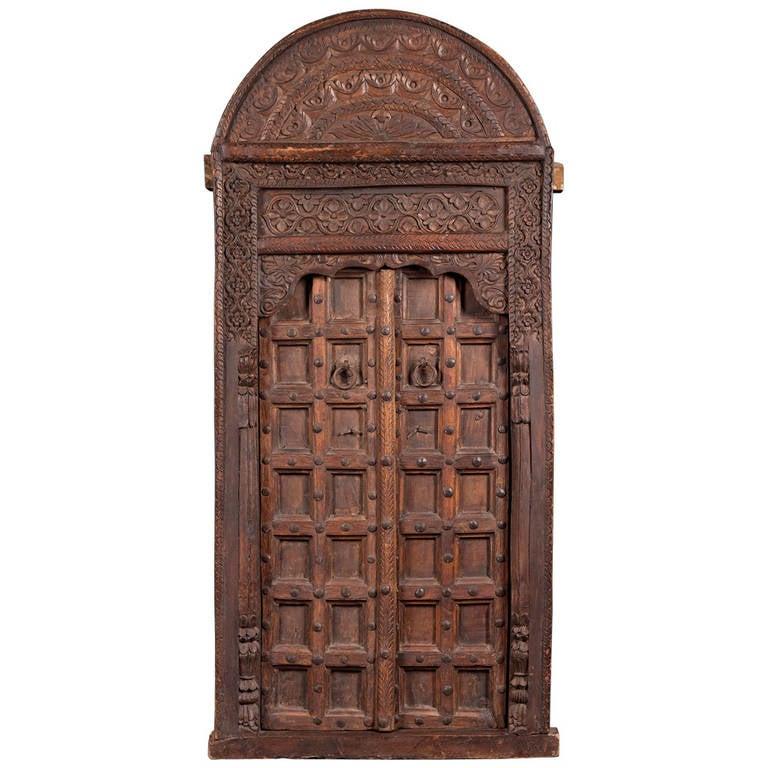 Moroccan Cedar Door 16th Century 1