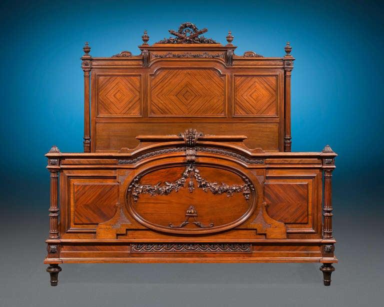 Louis XVI Mercier Frères Double Bed For Sale