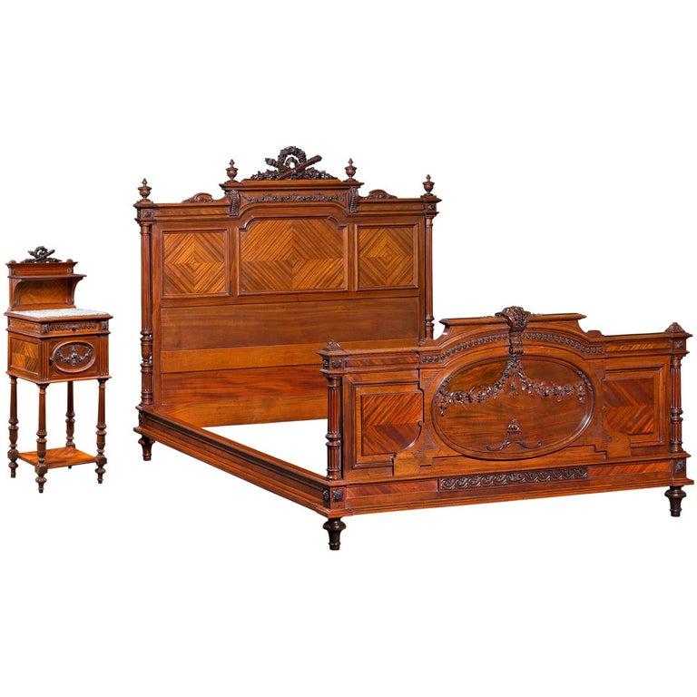 Mercier Frères Double Bed For Sale