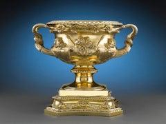 Silver Gilt Warwick Vase from Amir Habibullah Khan