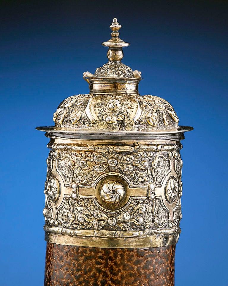 English 16th Century Elizabethan Tigerware Jug For Sale