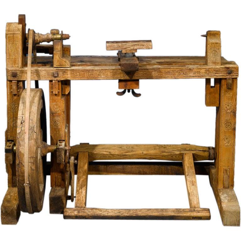 Antique Woodworker's Lathe