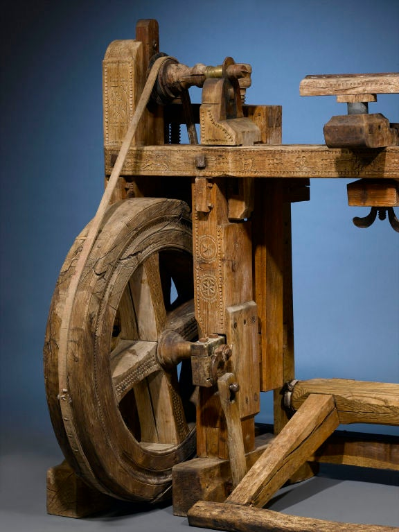 Antique Woodworker's Lathe In Excellent Condition In New Orleans, LA