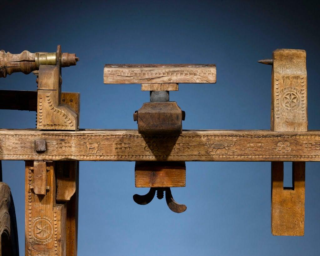 Antique Woodworker's Lathe 1