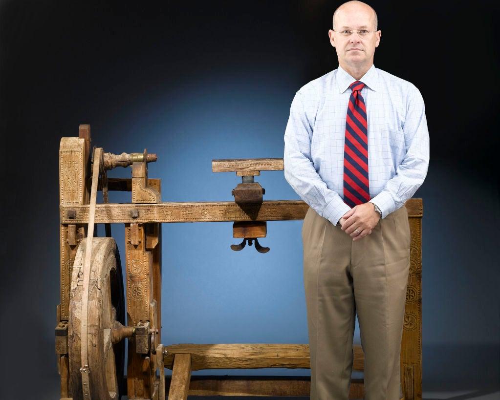 Antique Woodworker's Lathe 2
