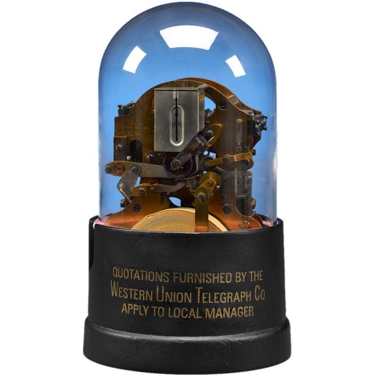 Thomas Edison Stock Ticker Telegraph At 1stdibs