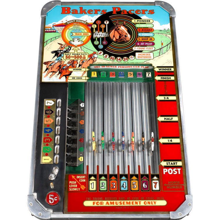 American Baker's Pacers Short Track Horseracing Machine