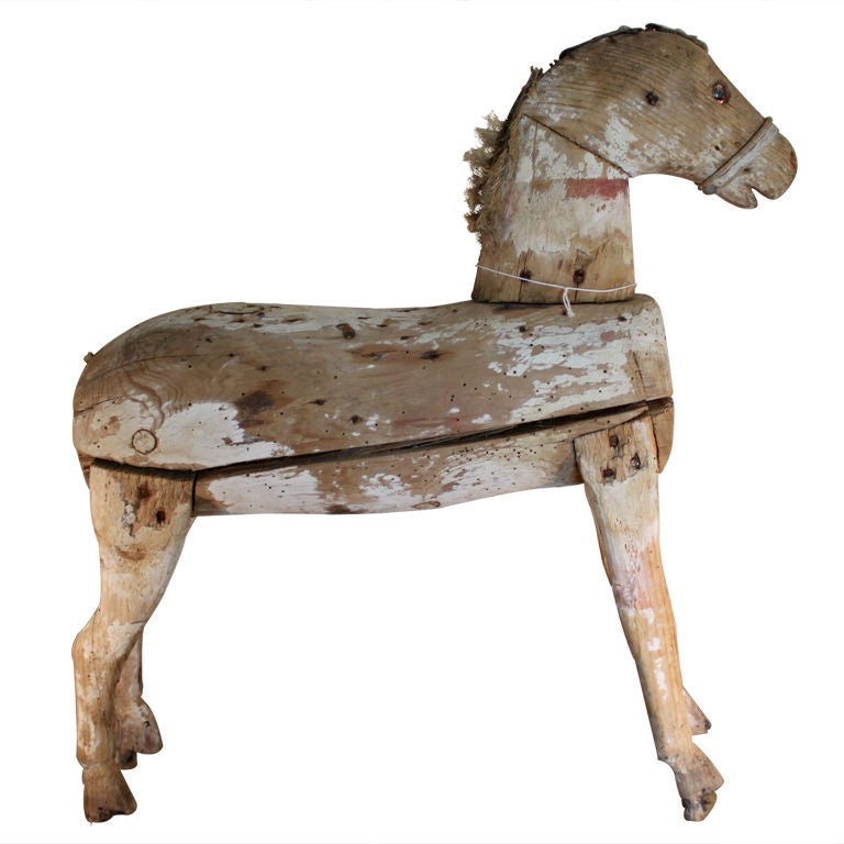 Wooden Horse At 1stdibs