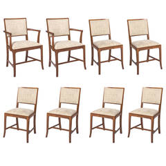 A set of eight Yew wood dining chairs by Heal and Sons of London, circa 1930