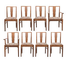 Gordon Russell set of eight oak dining chairs, England circa 1930