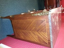 French Parquetry 3 Drawer Chest With Marble Top image 2
