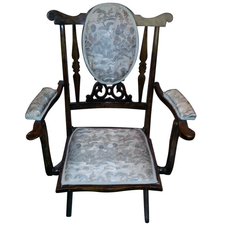 English Campaign Folding Chair At 1stdibs