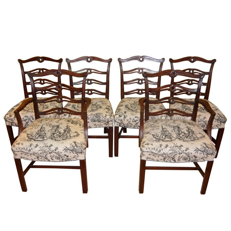 Chippendale Mahogany Dining Room Chairs: Set Of Six Chippendale Style Mahogany Dining Chairs At 1stdibs