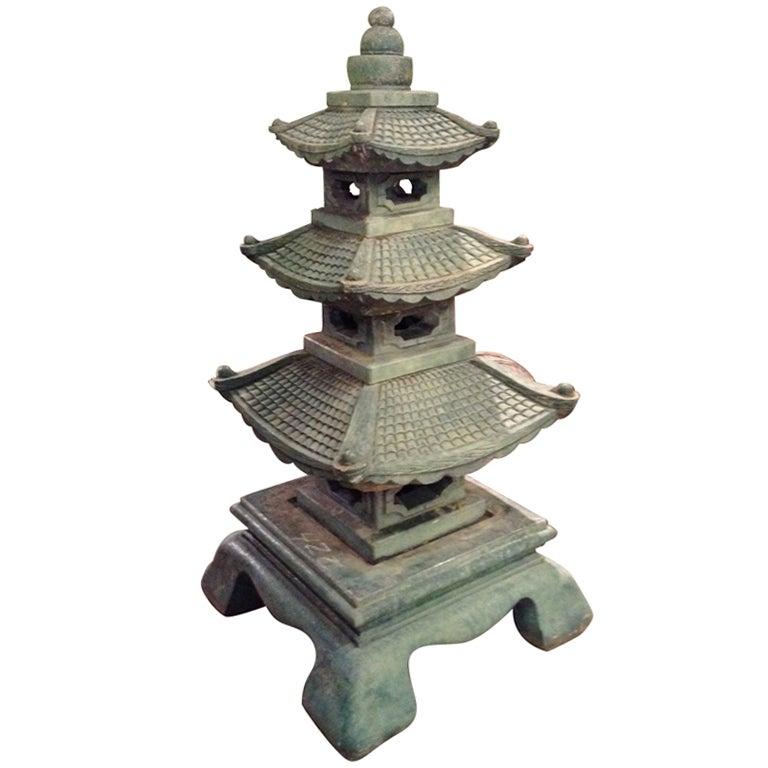 Chinese Pagoda Garden Statuary at 1stdibs