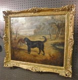 English Oil on Canvas of a Hunting Dog with Prey by Gilbert *SATURDAY SALE* image 3
