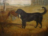 English Oil on Canvas of a Hunting Dog with Prey by Gilbert *SATURDAY SALE* image 5