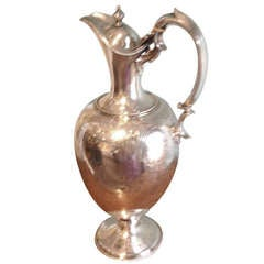 English Silver Plated Ewer /Claret Jug