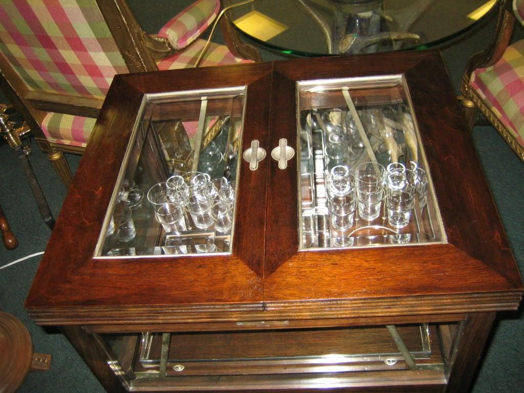 folding liquor cabinet