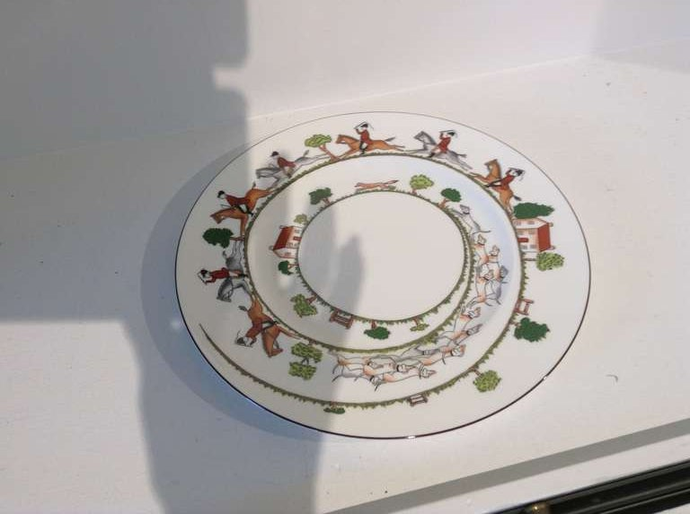 Wedgwood Bone China Hunt Scene Dinner Service At 1stdibs