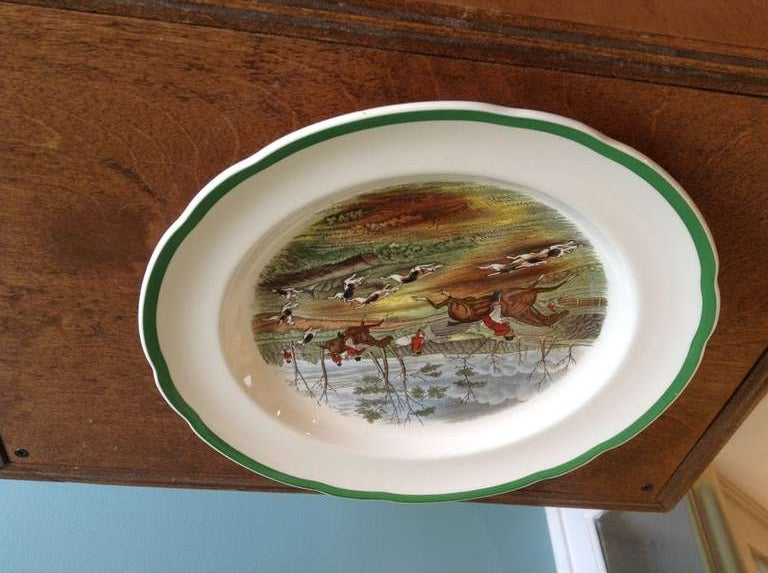 Set Of 24 Spode Hunt Scene Dinner Plates By J F Herring