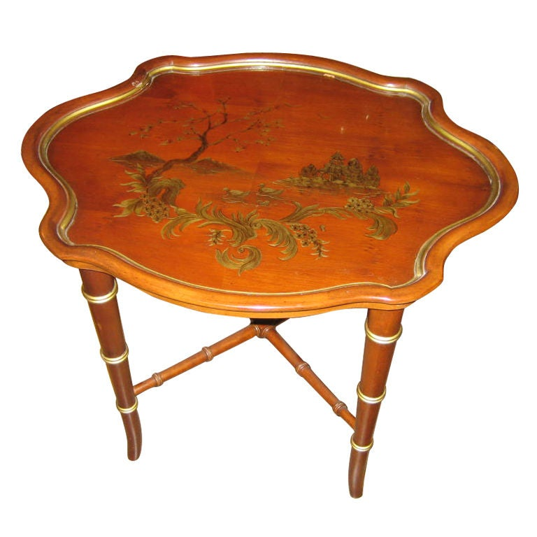Small occasional table with chinoiserie design at 1stdibs for Small occasional tables