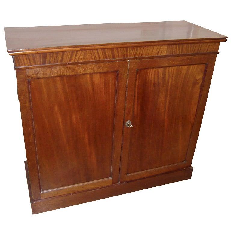 English Mahogany Double Door Floor Cabinet At 1stdibs