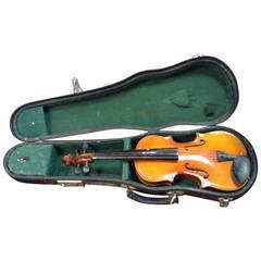 Beautiful Child's Violin in Original Leather Case