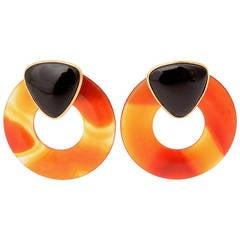 Onyx Agate Earrings
