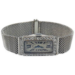 Audemars Piguet J.E. Caldwell Ladies Platinum Diamond Manual Wristwatch