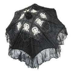 Early Silk & Lace Heavily detailed parasol circa 1900's Perfect
