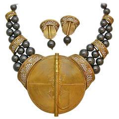 Boucheron Hematite Diamond Gold African Suite