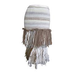 Rodarte Hand Knit Fringe Skirt