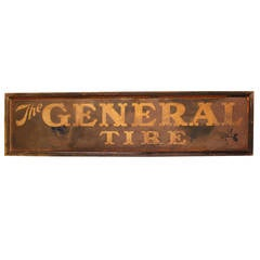 "Antique Tin Sign "" The General Tire """