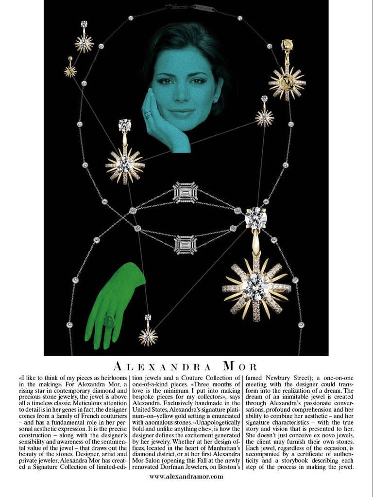 Women's Alexandra Mor Dangling Diamond Snowflake Earrings For Sale