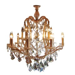 Strauss Fifteen-Arm Two-Tier Crystal Chandelier