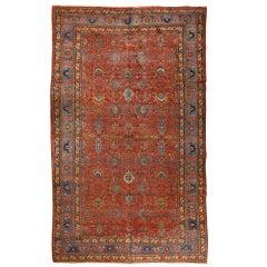 Antique Oversize Persian Bidjar Carpet