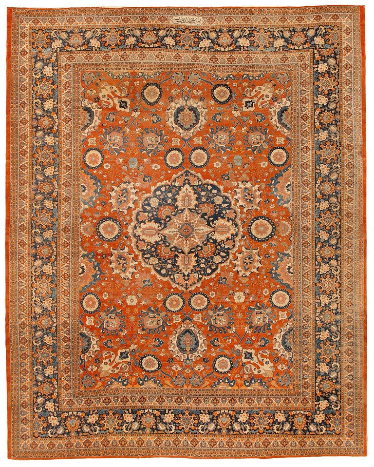 Exceptional Extremely Finely Woven Antique 19th Century