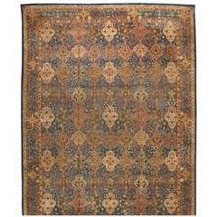 Antique Oversize 19th Century Indian Amritsar Carpet