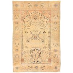 Antique 19th Century Persian Mohtasham Kashan Rug